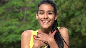 Adolescente colombiano en amor Fotos de archivo