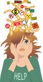 Adolescente com ADHD ilustração royalty free