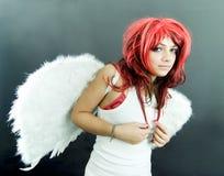 Adolescente com asas fotografia de stock