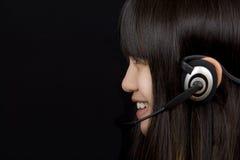 Adolescente com auriculares Imagens de Stock Royalty Free