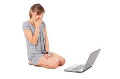 Adolescente com caderno Foto de Stock Royalty Free