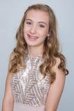 Adolescente com cintas Imagem de Stock Royalty Free