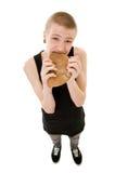 Adolescente com fome Imagens de Stock
