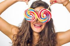 Adolescente com pirulito Imagem de Stock