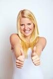 Adolescente com polegares acima Fotos de Stock