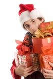 Adolescente com presentes Fotografia de Stock