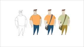 Adolescente com saco lateral ilustração royalty free