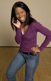 Adolescente com telemóvel Imagem de Stock Royalty Free