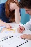 Adolescente com teste de gravidez positivo Imagem de Stock