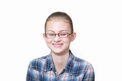 Adolescente com uma expressão engraçada em sua cara fotos de stock