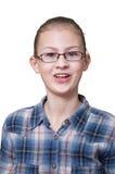 Adolescente com uma expressão surpreendida de uma cara fotos de stock royalty free