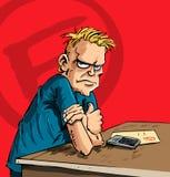 Adolescente com uma face scowling ilustração stock