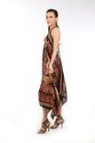 Adolescente com vestido longo fotografia de stock royalty free