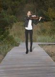 Adolescente com viola Fotografia de Stock