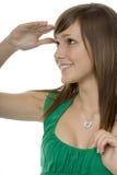 Adolescente con búsqueda de los gestos Imagen de archivo libre de regalías