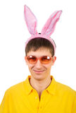 Adolescente con Bunny Ears Fotografia Stock