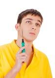 Adolescente con destornillador Imagen de archivo libre de regalías