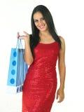 Adolescente con el bolso de compras Foto de archivo libre de regalías