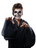 Adolescente con el cabo del cráneo del maquillaje quiere el gancho agarrador Foto de archivo libre de regalías