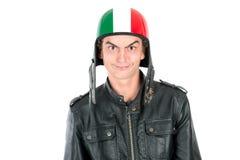 Adolescente con el casco Foto de archivo