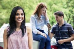 Adolescente con el coche Fotografía de archivo libre de regalías