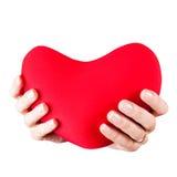Adolescente con el corazón Imagen de archivo libre de regalías