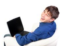 Adolescente con el cuaderno Imagen de archivo