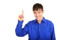 Adolescente con el dedo para arriba Imagen de archivo libre de regalías