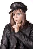 Adolescente con el dedo por via oral Imagen de archivo libre de regalías