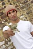 Adolescente con el dinero Fotografía de archivo libre de regalías