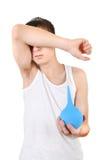 Adolescente con el enema Imagen de archivo libre de regalías