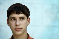 Adolescente con el espacio para su texto Fotografía de archivo