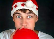 Adolescente con el globo rojo Foto de archivo libre de regalías