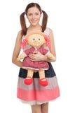 Adolescente con el juguete. Imagen de archivo libre de regalías