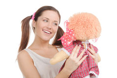 Adolescente con el juguete. Fotos de archivo libres de regalías