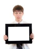 Adolescente con el letrero vacío Fotos de archivo libres de regalías