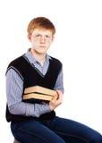 Adolescente con el libro Fotografía de archivo