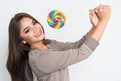 Adolescente con el Lollipop Imagen de archivo libre de regalías