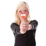 Adolescente con el lollipop Fotografía de archivo