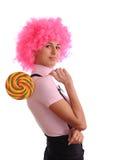 Adolescente con el lollipop Fotos de archivo libres de regalías