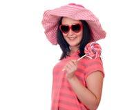 Adolescente con el lollipop Imagenes de archivo