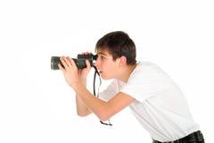Adolescente con el monóculo Foto de archivo libre de regalías