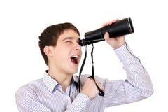 Adolescente con el monóculo Fotografía de archivo libre de regalías