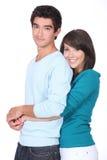 Adolescente con el novio Imagen de archivo