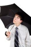 Adolescente con el paraguas Imagen de archivo libre de regalías