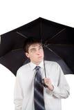 Adolescente con el paraguas Fotos de archivo libres de regalías