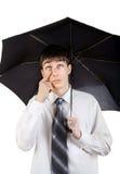 Adolescente con el paraguas Foto de archivo libre de regalías