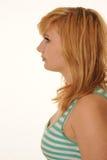 Adolescente con el pelo castaño Foto de archivo