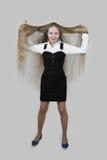Adolescente con el pelo largo Imagen de archivo libre de regalías