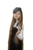 Adolescente con el pelo largo Imágenes de archivo libres de regalías